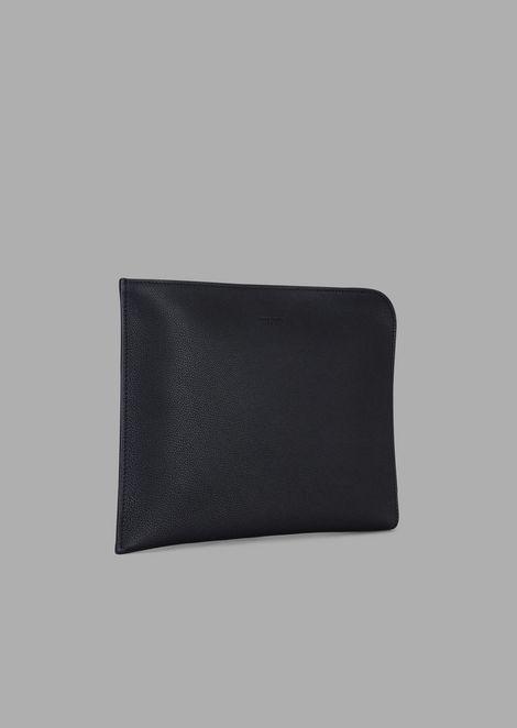 Grainy leather document case