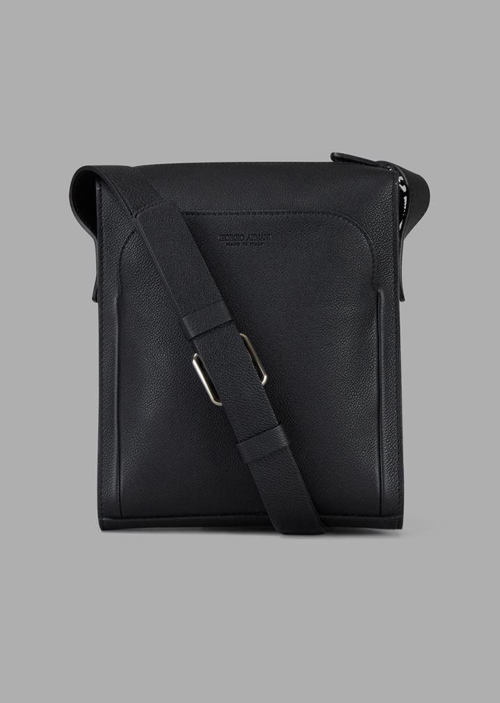 design senza tempo db2cb 0261a Borsa a tracolla in pelle granata con tasca esterna