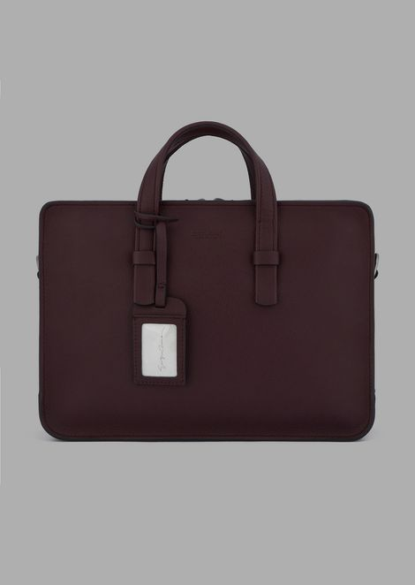 99ed2f7eaeea Briefcase in grained calfskin