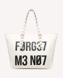"REDValentino BIKERED ""ENCRYPTED LOVE NOTES"" TOTE"