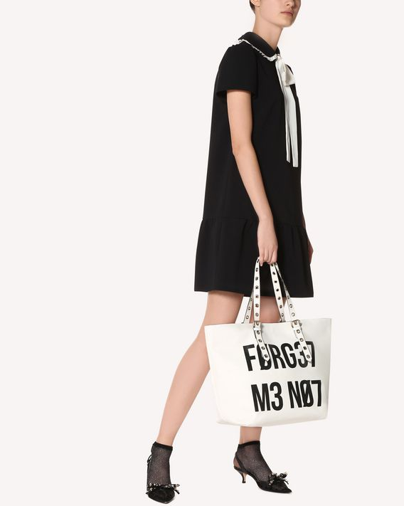 REDValentino BOLSO SHOPPER BIKERED «ENCRYPTED LOVE NOTES»