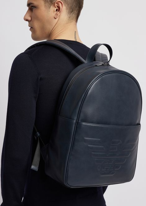 Backpack with maxi logo