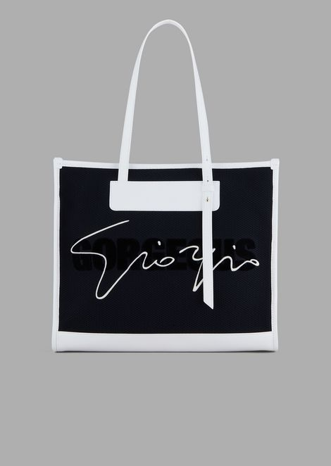 Mesh shopping bag with Gorgeous embroidery