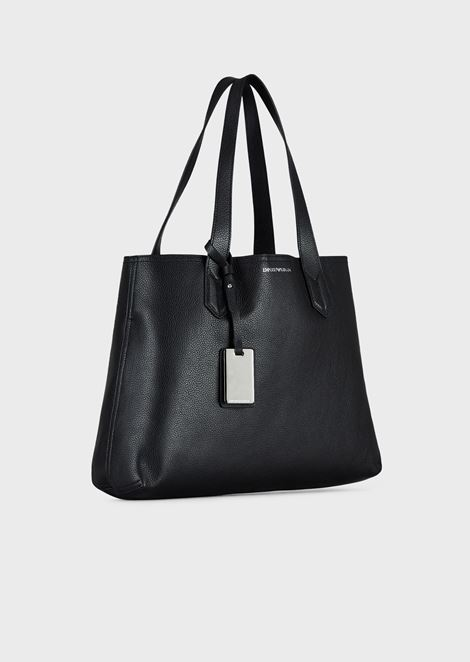 Shopping bag with internal clutch and Emporio Armani charm