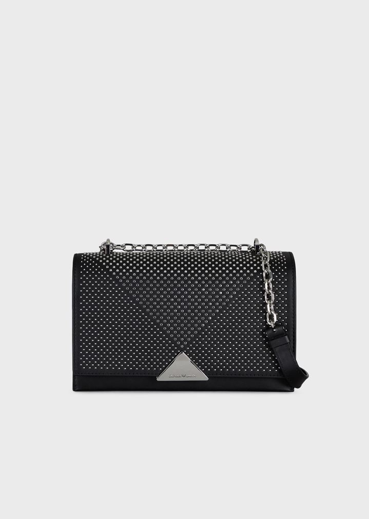 f4d3429fe84e Cross-body bag in smooth leather with stud appliqués