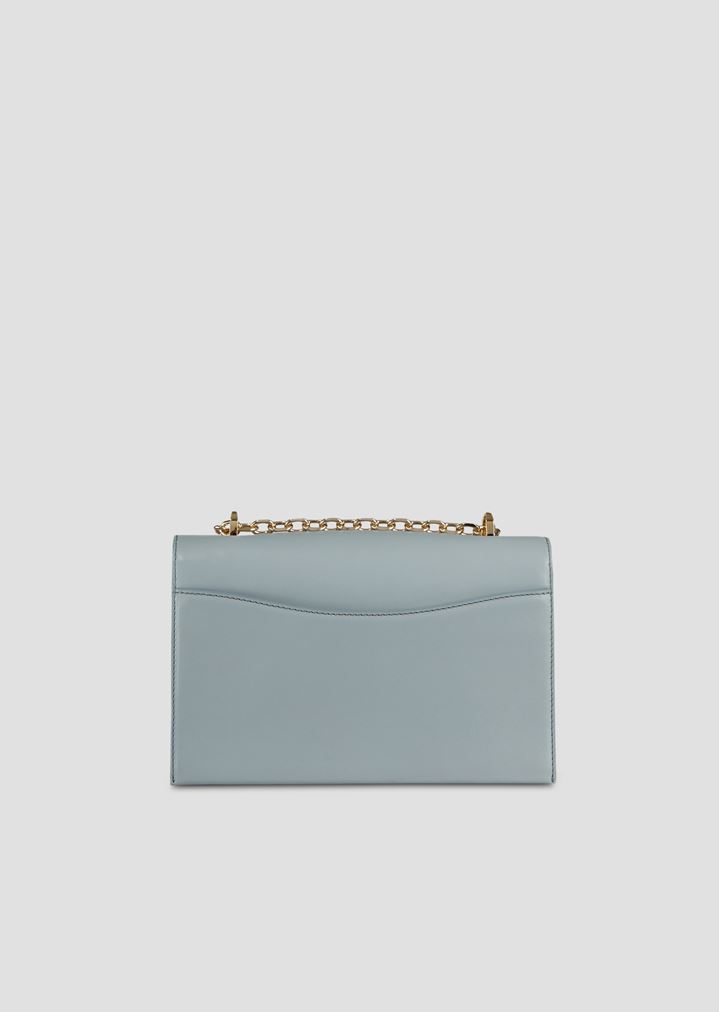 bcb3f8319d Cross-body bag in smooth leather with chain strap