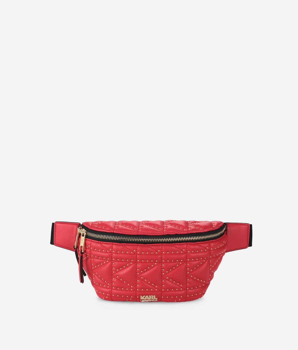 KARL LAGERFELD K/Kuilted Studs Belt Bag Fanny pack Woman f