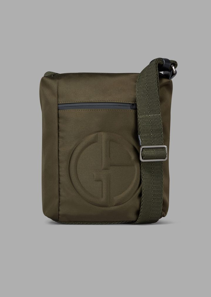 19a0e7382d0f Shoulder bag with embossed logo and external pocket