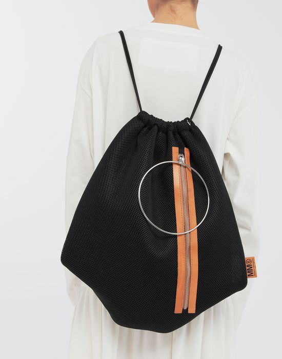 MM6 MAISON MARGIELA Net mesh drawstring backpack Backpack [*** pickupInStoreShipping_info ***] b