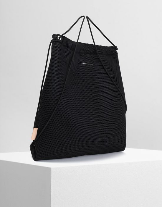 MM6 MAISON MARGIELA Net mesh drawstring backpack Backpack [*** pickupInStoreShipping_info ***] r