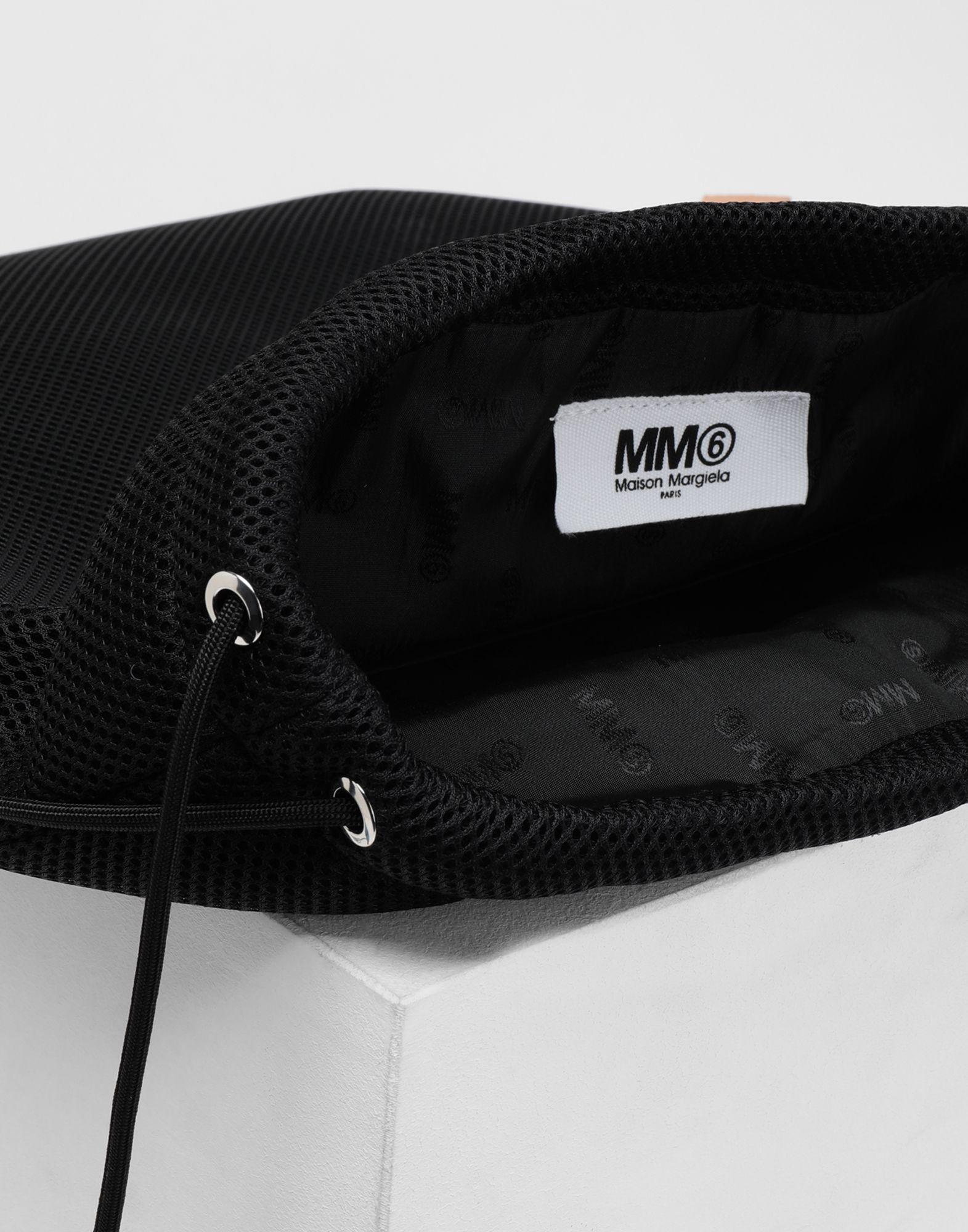 MM6 MAISON MARGIELA Net mesh drawstring backpack Backpack Woman d