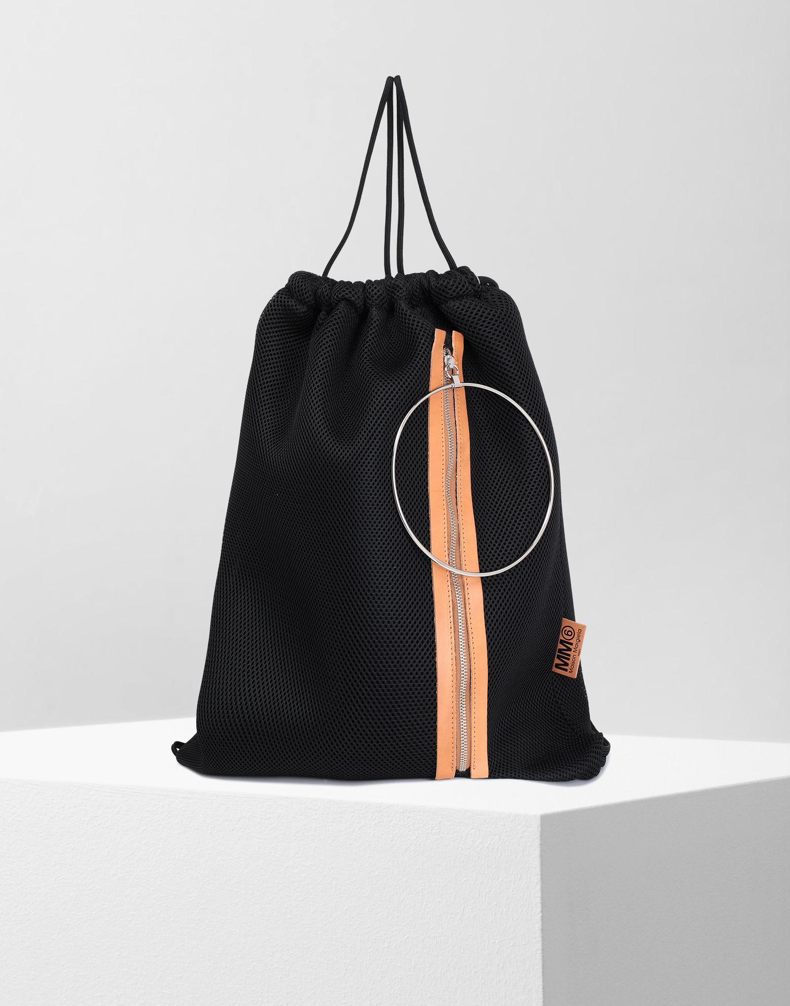 MM6 MAISON MARGIELA Net mesh drawstring backpack Backpack Woman f