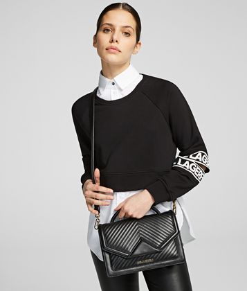 KARL LAGERFELD K/KLASSIK QUILTED SHOULDER BAG
