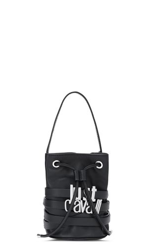 Bucket bag with logo