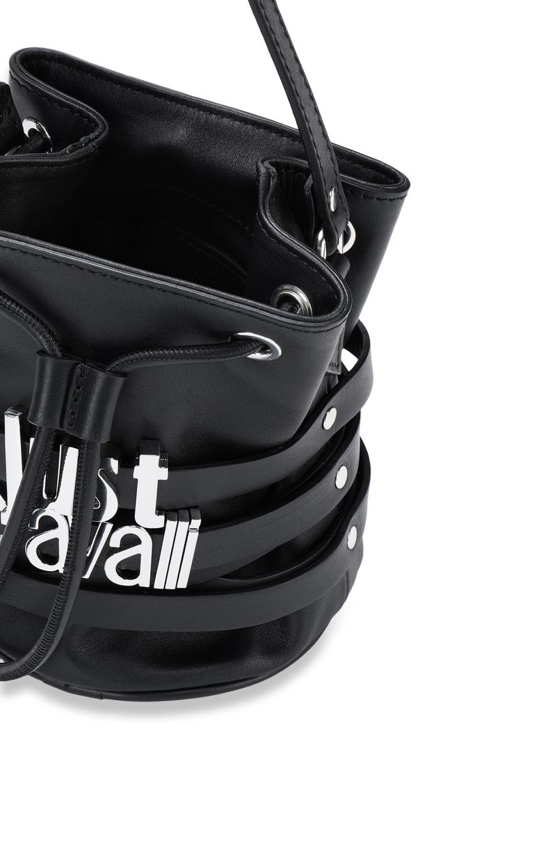 JUST CAVALLI Bucket bag with logo Crossbody Bag [*** pickupInStoreShipping_info ***] a