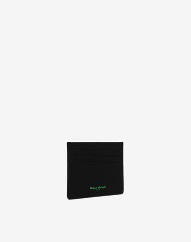 ACCESSORIES Logo-embossed leather cardholer Black