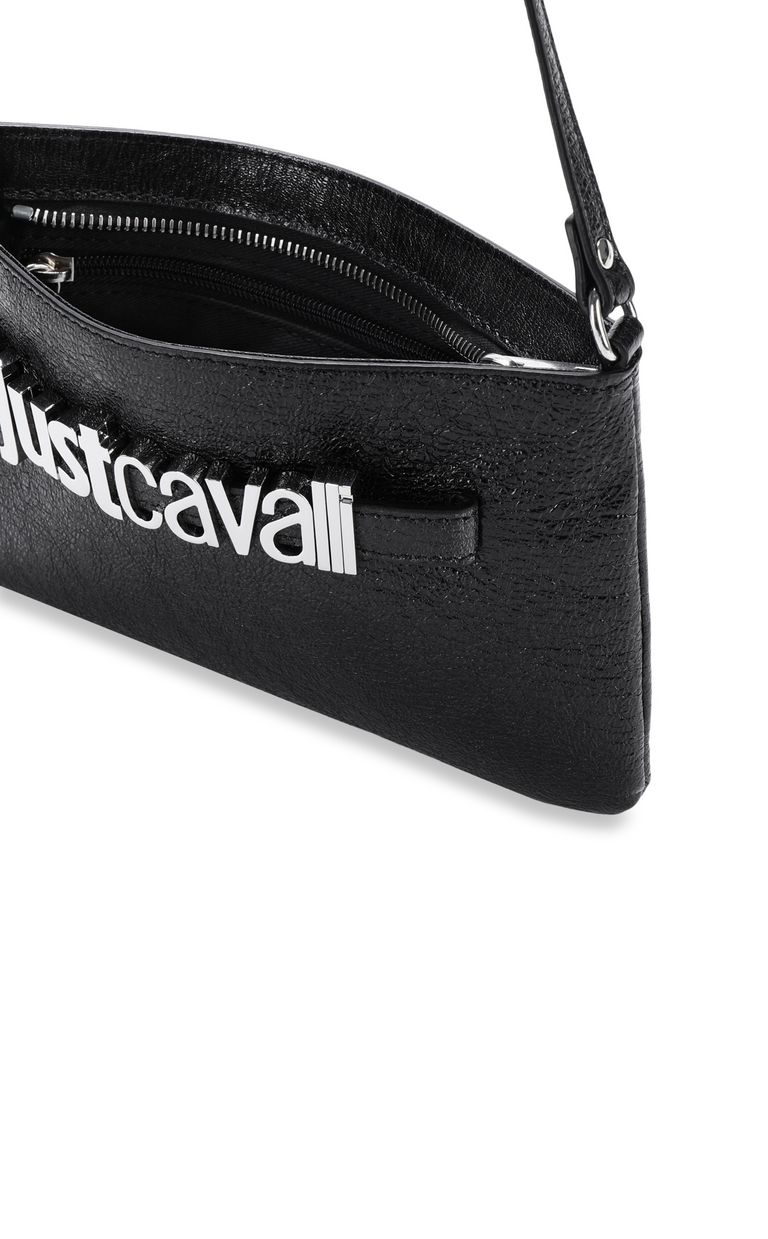 JUST CAVALLI Shoulder bag in lamé leather Crossbody Bag Woman a
