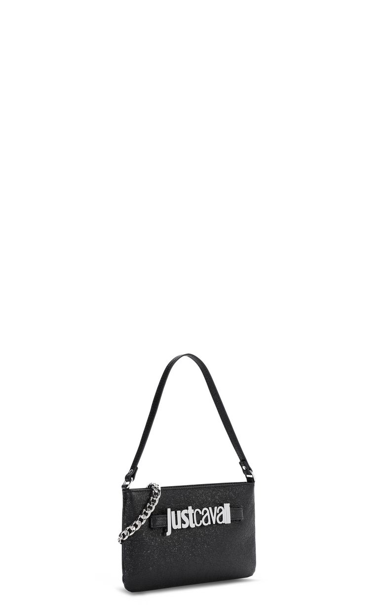 JUST CAVALLI Shoulder bag in lamé leather Crossbody Bag Woman r