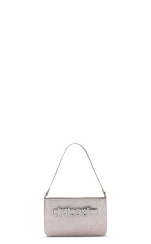 Shoulder bag in lamé leather