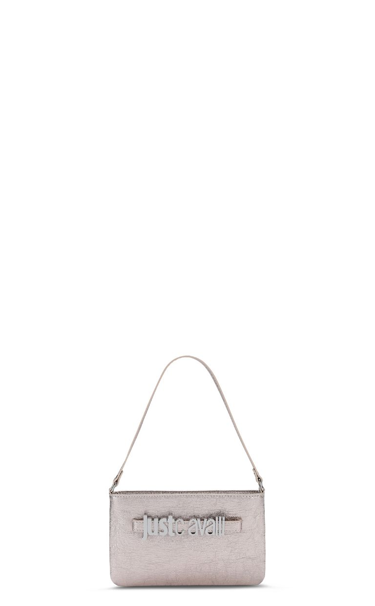 JUST CAVALLI Shoulder bag in lamé leather Crossbody Bag Woman f