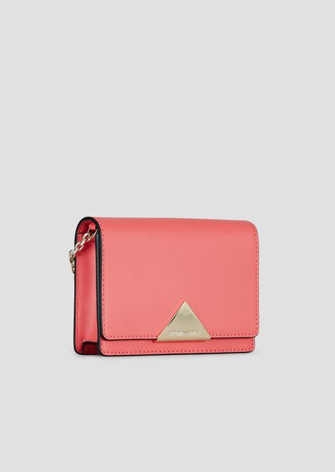 Mini-sac à bandoulière en cuir lisse