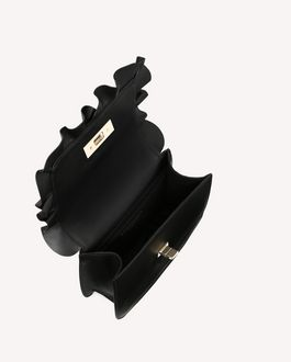 "REDValentino ROCK RUFFLES ""ENCRYPTED LOVE NOTES"" CROSSBODY BAG"