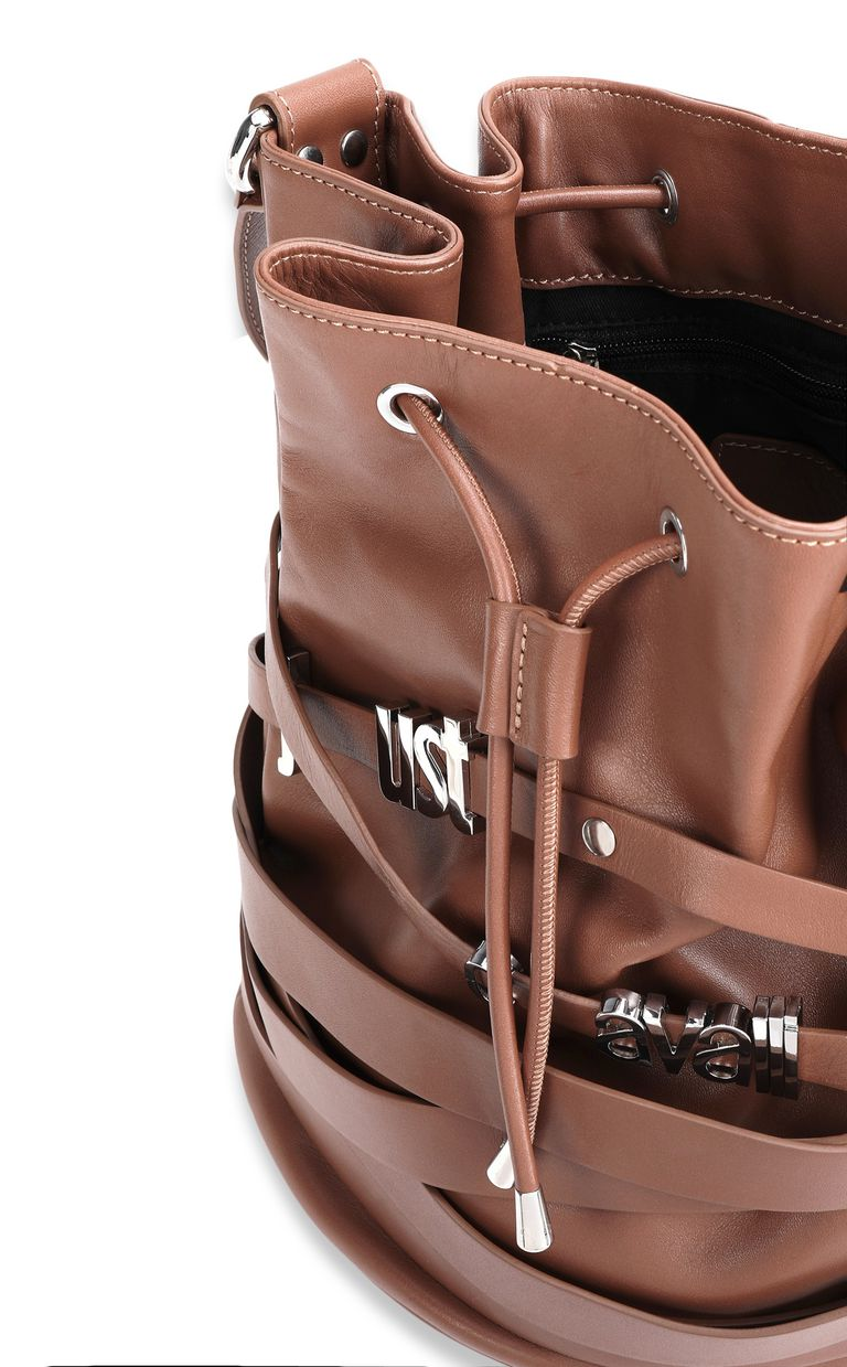 JUST CAVALLI Bucket bag with logo Crossbody Bag Woman a