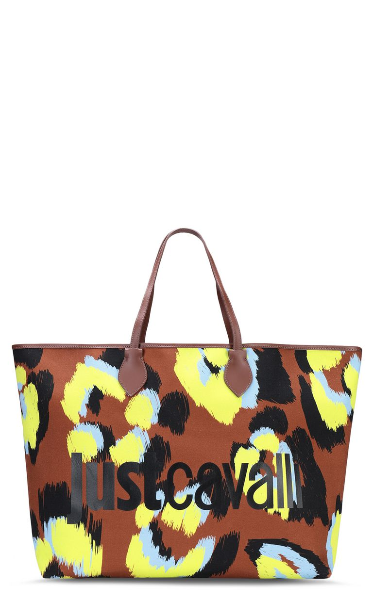 JUST CAVALLI Leopard-print shopper Tote Woman f