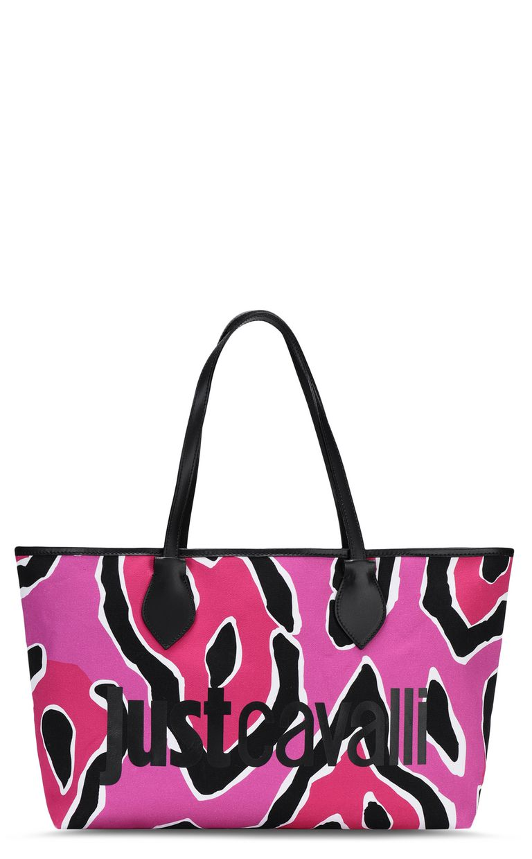 JUST CAVALLI Panther-print shopper Tote Woman f