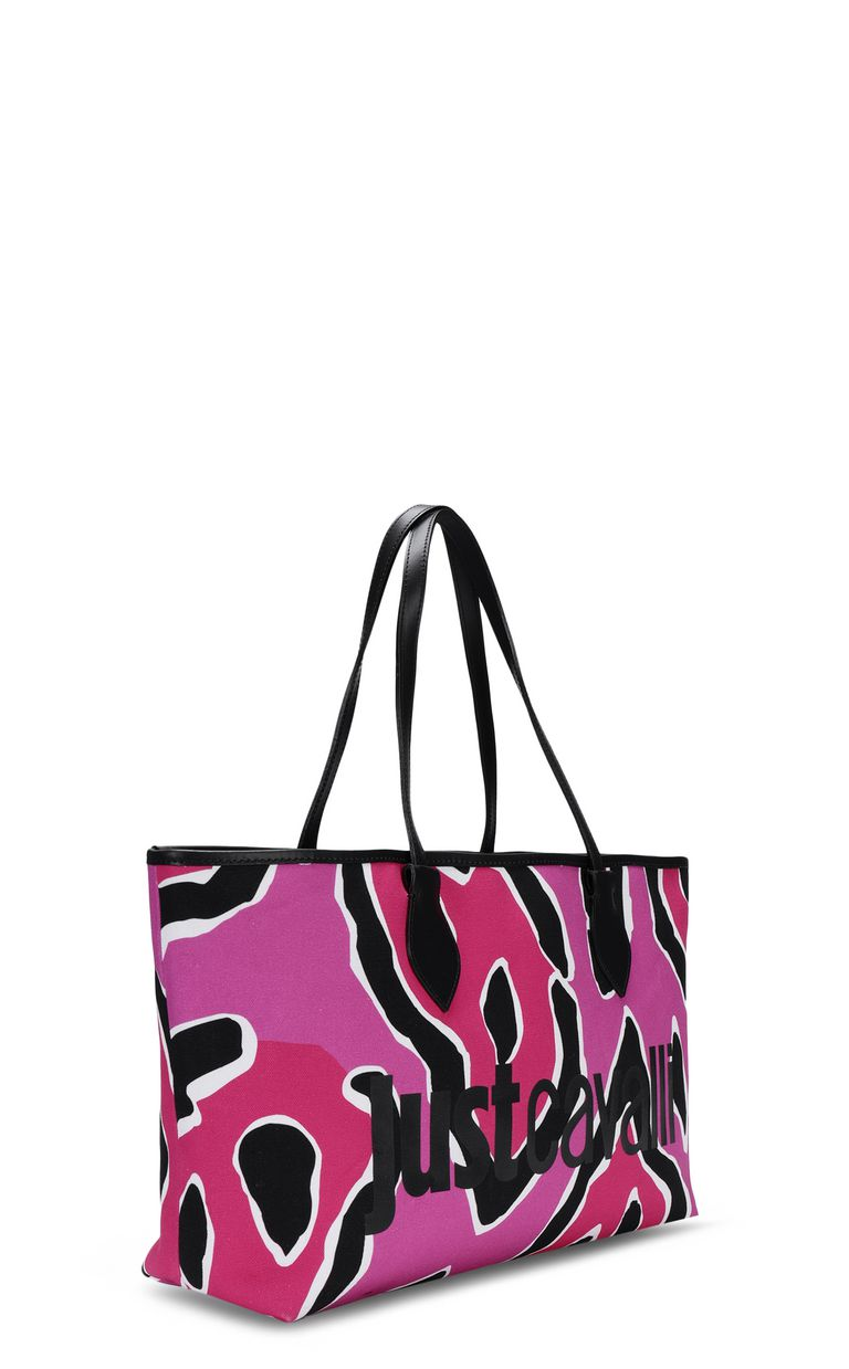 JUST CAVALLI Panther-print shopper Tote Woman r