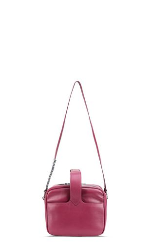 Cherry-red shoulder bag