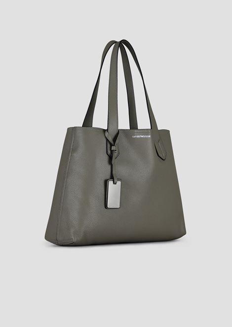 Shopper with internal pochette and Emporio Armani charm