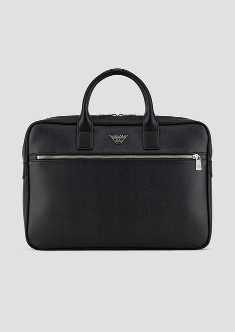 Petite sacoche porte-documents en PVC avec poche extérieure 5f3f1e2bdf3