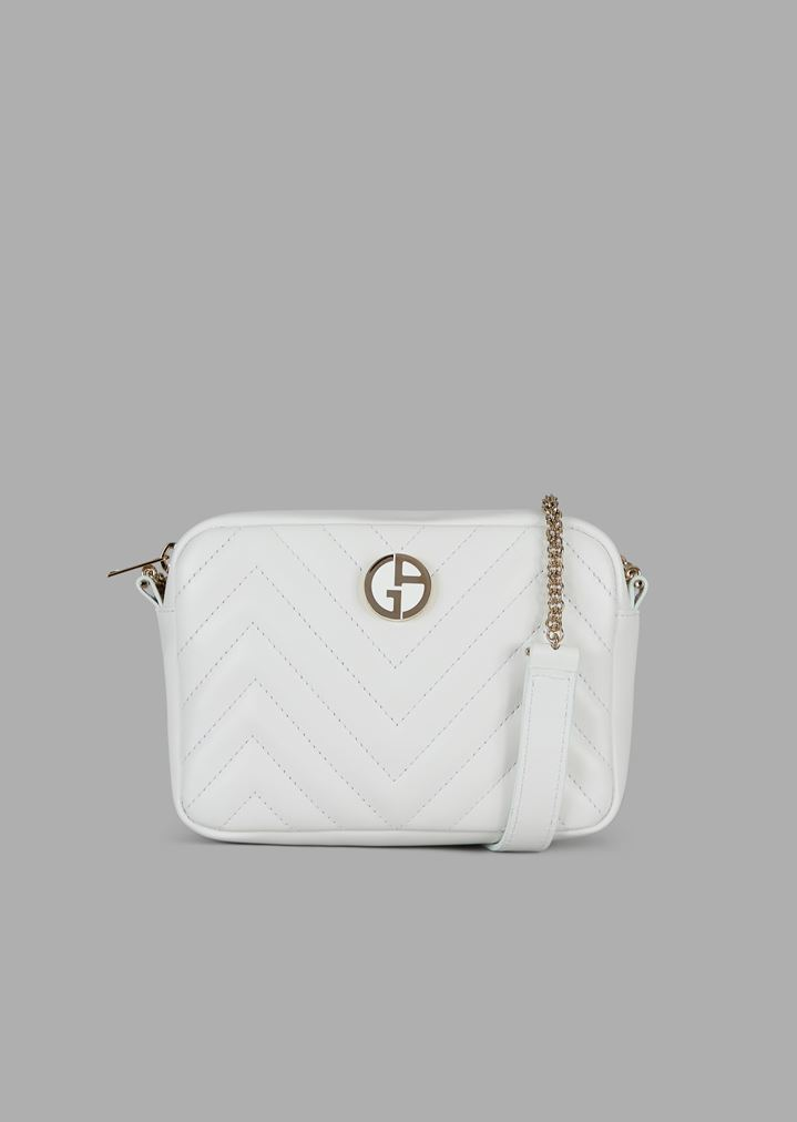 c72bc8180d Nappa leather cross-body bag with enameled logo