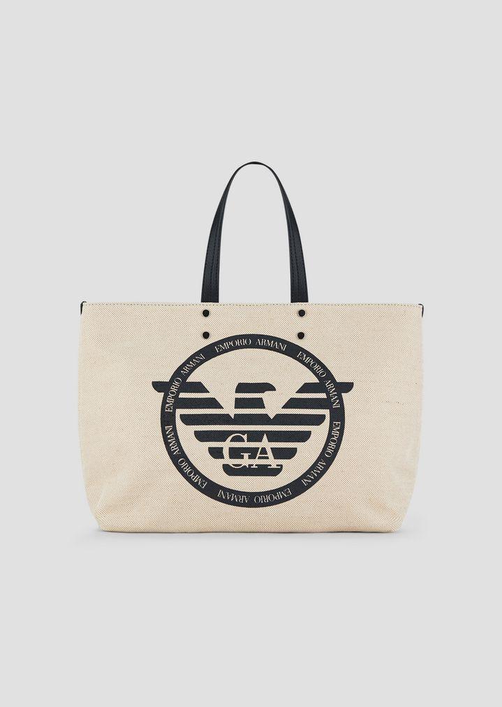 Toile Logo Avec Pochette Cabas IntérieureFemme Sac En Maxi Et OZuwTPkXi