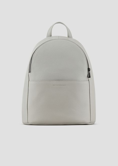 35e4441bd8f7 Color. Backpack in grainy leather with pressed logo on the front