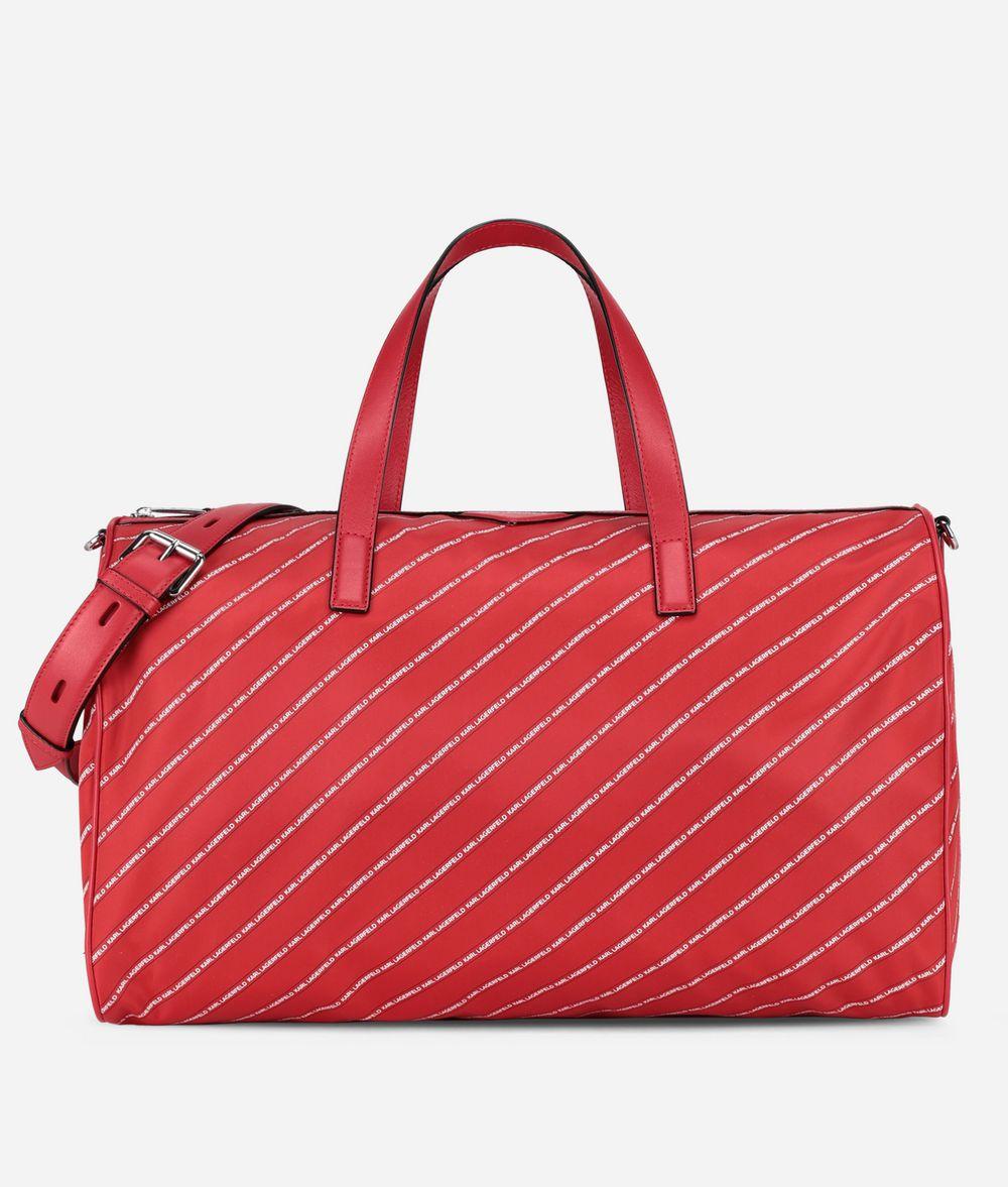 KARL LAGERFELD K/Stripe Logo Weekender Handbag Woman f