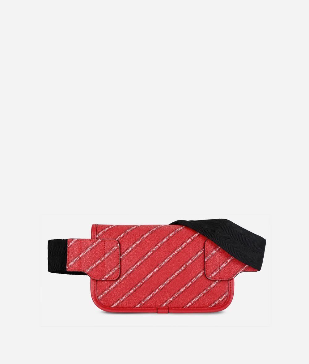 KARL LAGERFELD K/Stripe Logo Belt Bag Fanny pack Woman d