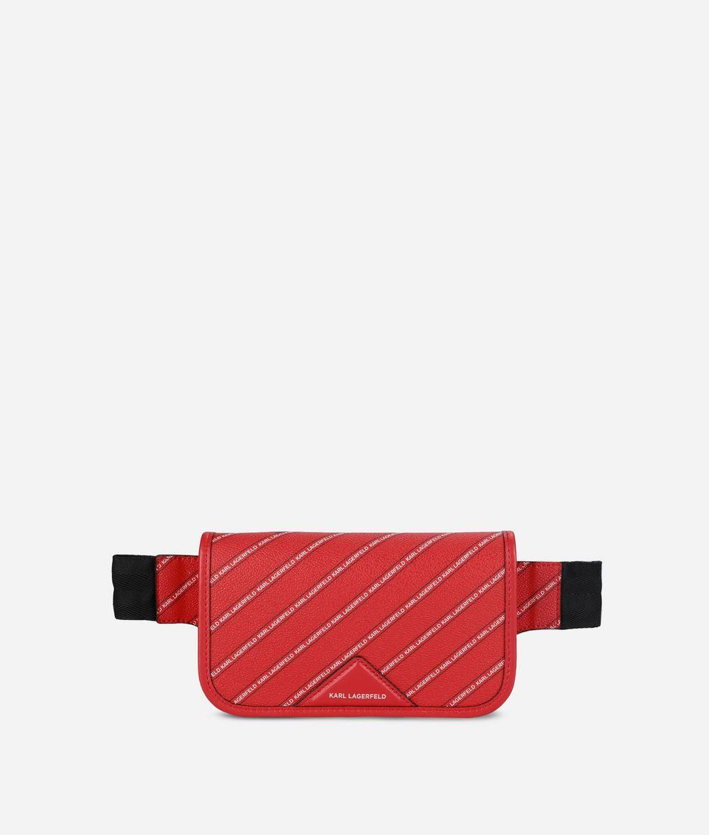 KARL LAGERFELD K/Stripe Logo Belt Bag Fanny pack Woman f