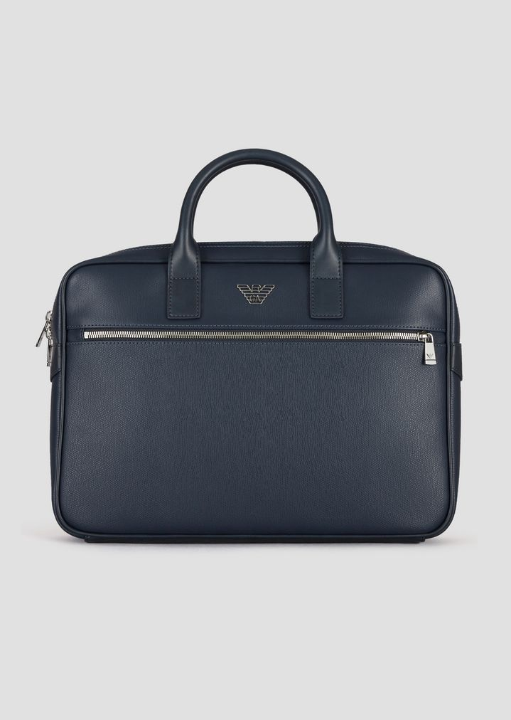 aa89982b8019 Small PVC briefcase with outer pocket