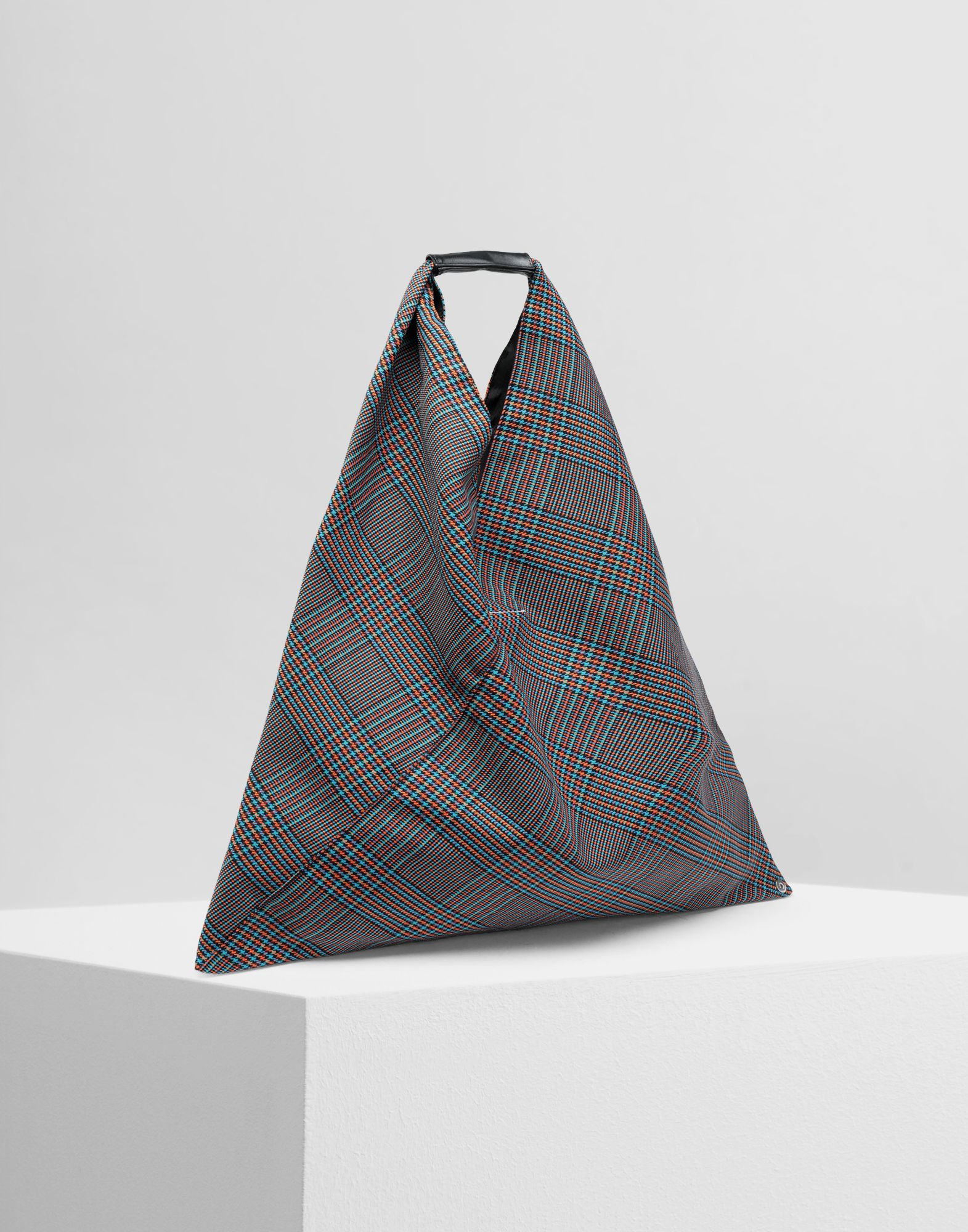 MM6 MAISON MARGIELA Japanese tartan wool medium bag Handbag Woman r