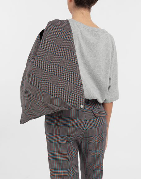 MM6 MAISON MARGIELA Japanese tartan wool medium bag Handbag Woman b