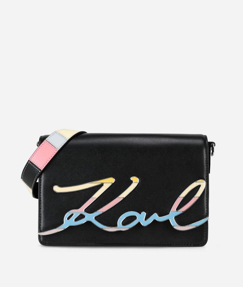 KARL LAGERFELD K/Signature Special Enamel Shoulder Bag Handbag Woman f