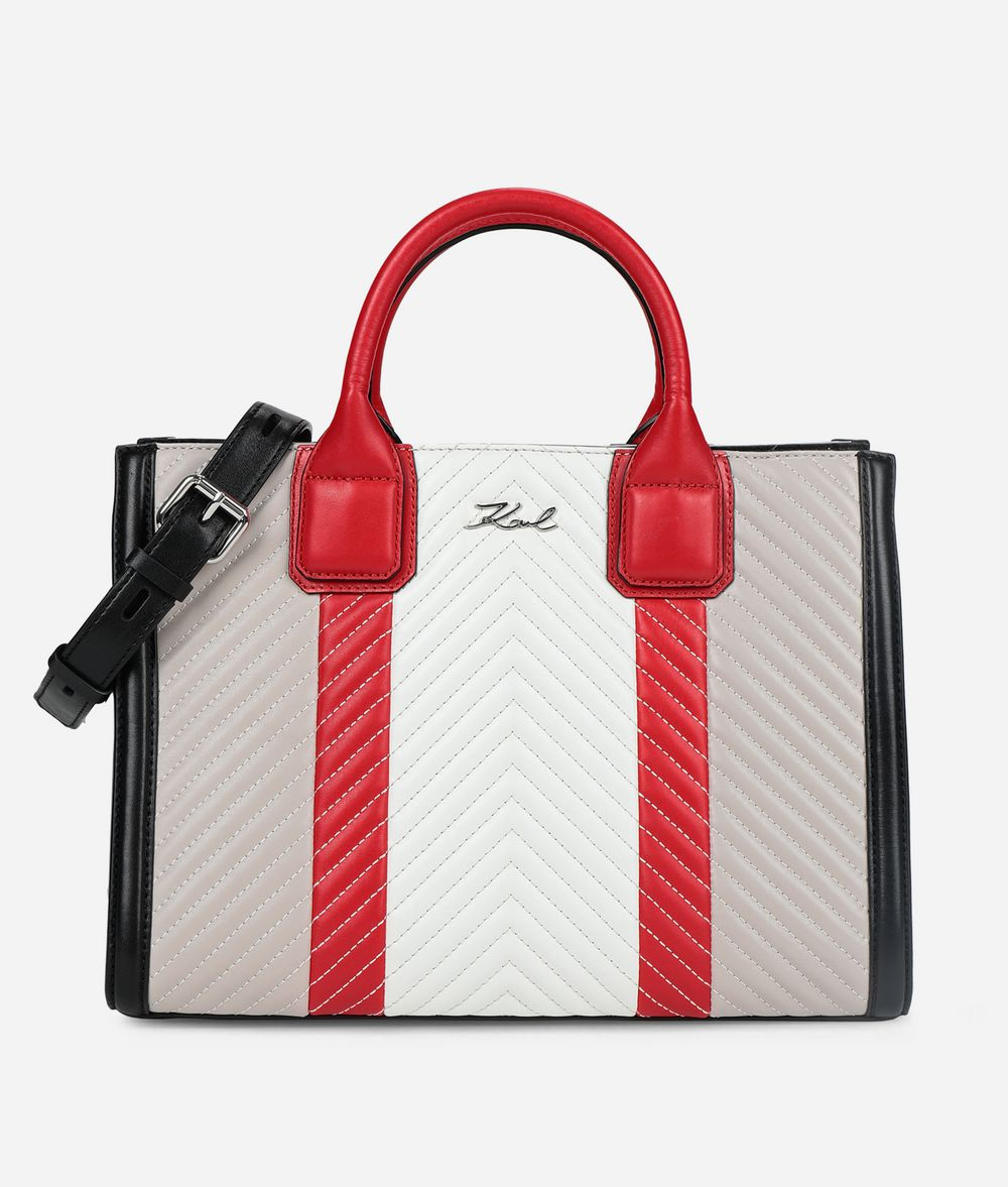 KARL LAGERFELD K/Klassik Quilted Colourblocked Tote Tote Woman f