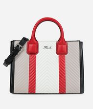 KARL LAGERFELD K/Klassik Quilted Colourblocked Tote 9_f