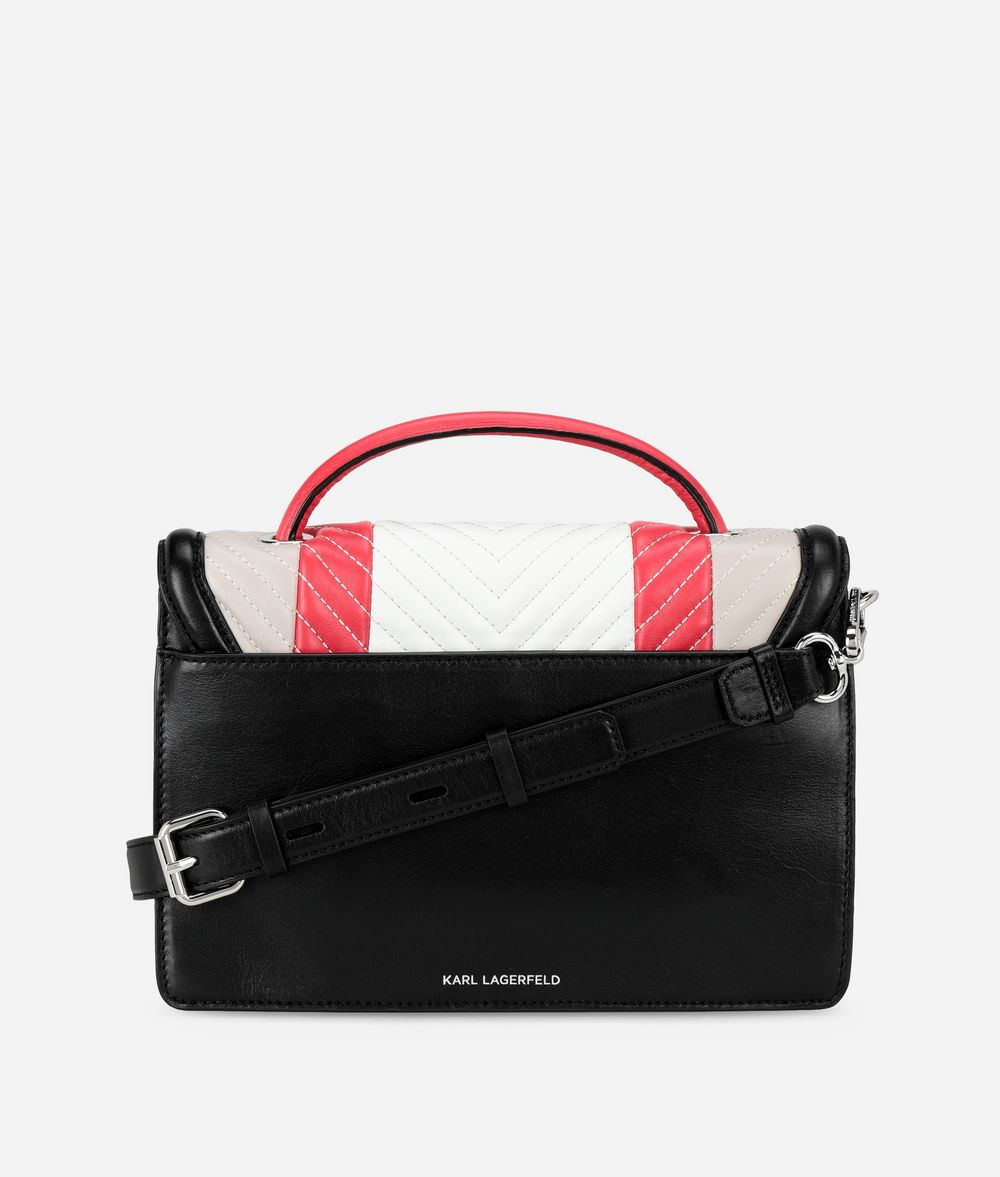 KARL LAGERFELD K/Klassik Quilted Colourblocked Shoulder Bag Handbag Woman d