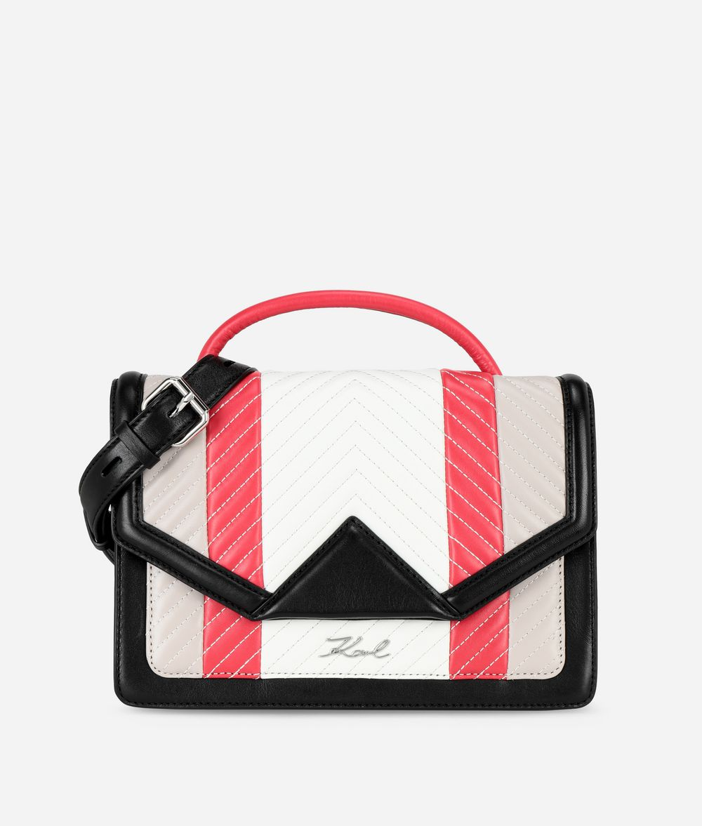 KARL LAGERFELD K/Klassik Quilted Colourblocked Shoulder Bag Handbag Woman f