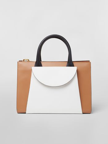 Marni Large LAW bag in leather Woman f