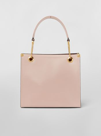 Marni Squared snap link GRIP bag in leather Woman f