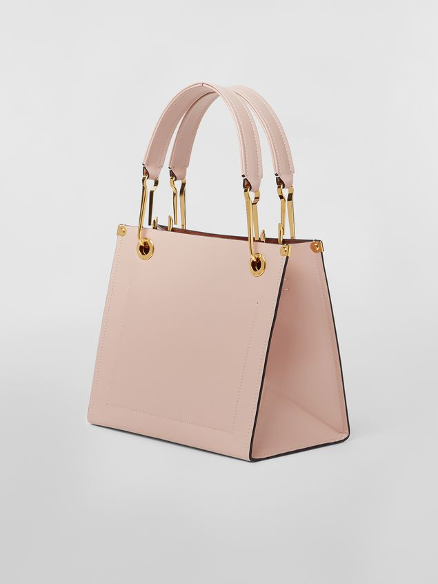 Marni Squared snap link GRIP bag in leather Woman